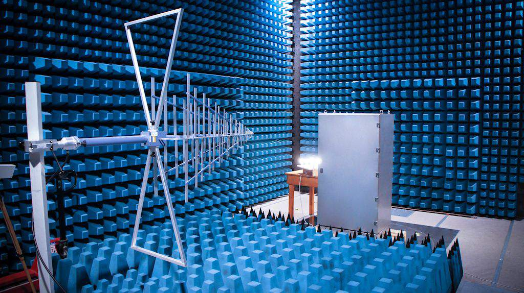 Testing of ZIPSIL products for EMI and electromagnetic compatibility in an anechoic chamber