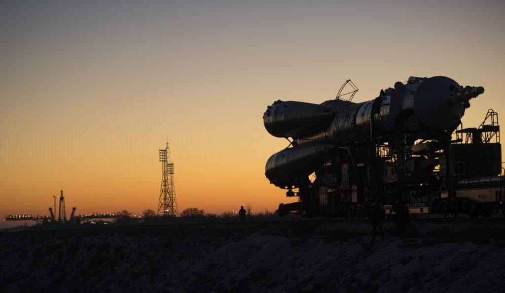 Российский транспортный пилотируемый космический корабль «Союз ТМА-19М» из сорок шестой долговременной экспедиции к Международной космической станции.
