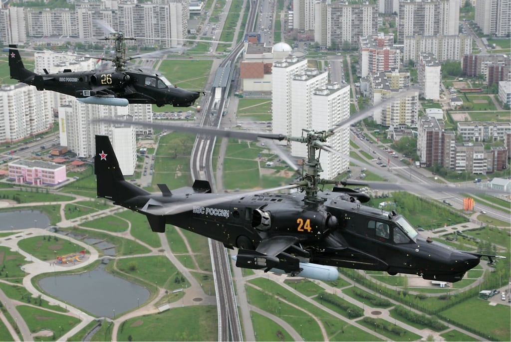 Helicopters KA-50 Designed by Kamov Design Bureau. Due to the lack of a second crew member, advanced target system is most actively used in this helicopter. For it's sharp operation the global use of EMC gaskets is required. Photo - Dmitry Pichugin