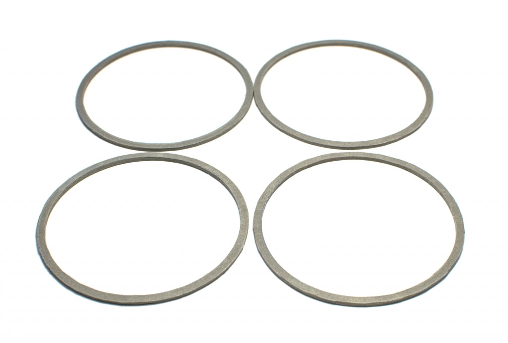 Round electrically conductive EMC gaskets ZIPSIL 101 for special purposes. Outer diameter - 90 mm, inner - 87 mm, thickness - 2 mm