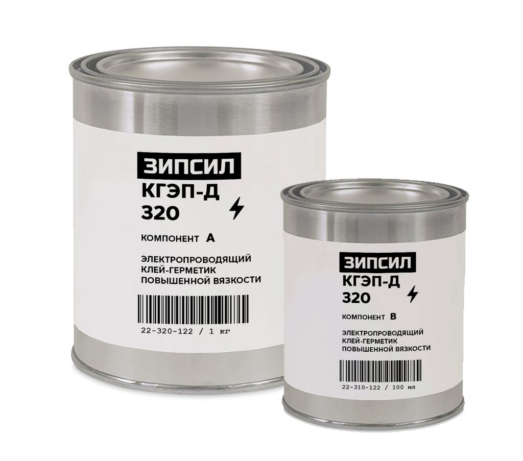 Электропроводящий экранирующий герметик ЗИПСИЛ КГЭП-Д 320 высокой вязкости