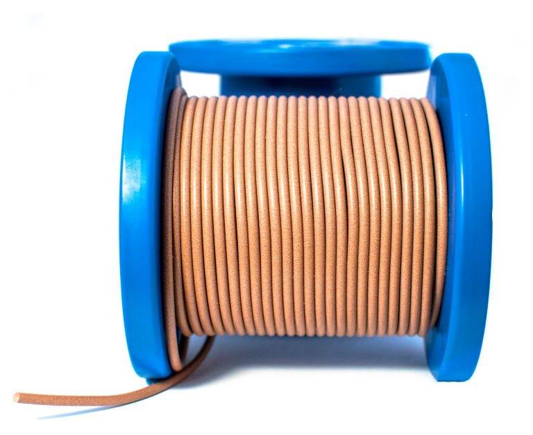 Сплошной токопроводящий эластомер D-образный профиль для ЭМС
