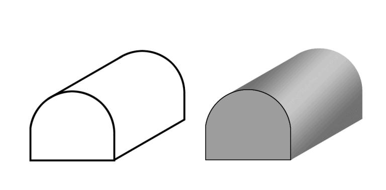Сплошной электропроводящий эластомер D-профиль