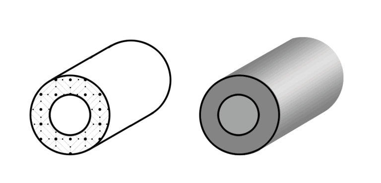 Пустотелый цельнотянутый электропроводящий эластомер О-профиль